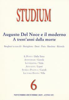 Equilibrifestival.it Studium (2019). Vol. 6: Augusto del Noce e il moderno. A trent'anni dalla morte. Image