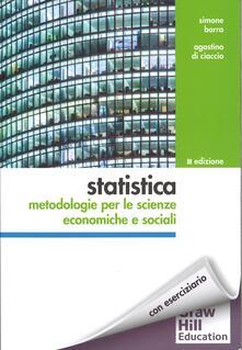 Winniearcher.com Statistica: metodologie per le scienze economiche e sociali. Con aggiornamento online Image