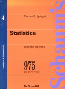 Foto Cover di Statistica, Libro di Murray R. Spiegel, edito da McGraw-Hill Education