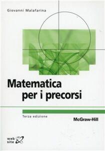 Libro Matematica per i precorsi Giovanni Malafarina