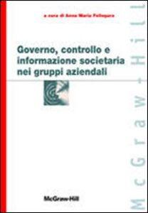 Governo, controllo e informazione societaria nei gruppi aziendali