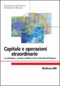 Libro Capitale e operazioni straordinarie Alessandro Montrone , Alessandro Musaio