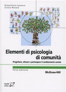 Nordestcaffeisola.it Elementi di psicologia di comunità. Progettare, attuare e partecipare il cambiamento sociale Image