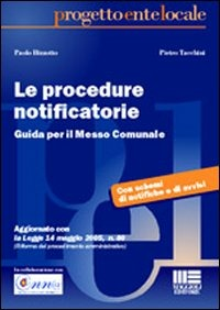 Le Le procedure notificatorie - Bizzotto Paolo Tacchini Pietro - wuz.it