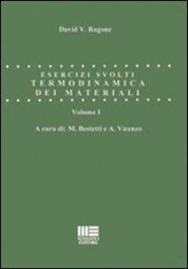 Foto Cover di Termodinamica dei materiali. Esercizi svolti, Libro di  edito da Maggioli Editore