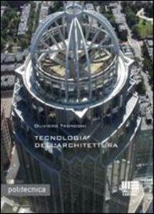 Libro Tecnologia dell'architettura Oliviero Tronconi