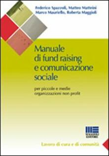Manuale di fund raising e comunicazione sociale - copertina