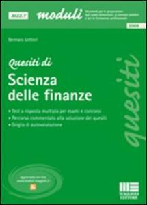 Quesiti di scienza delle finanze - Gennaro Lettieri - copertina
