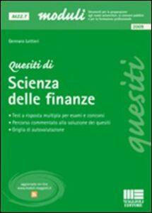 Foto Cover di Quesiti di scienza delle finanze, Libro di Gennaro Lettieri, edito da Maggioli Editore