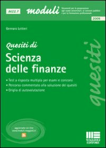 Libro Quesiti di scienza delle finanze Gennaro Lettieri