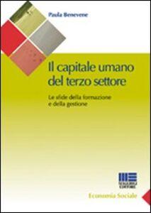 Libro Il capitale umano del terzo settore. Le sfide della formazione e della gestione Paula Benevene