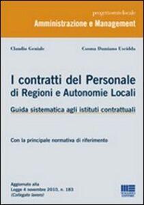 Libro I contratti del personale di regioni e autonomie locali Claudio Geniale , Cosma Damiano Uscidda