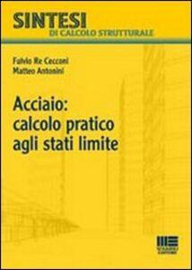 Libro Acciaio: calcolo pratico agli stati limite Matteo Antonini , Fulvio Re Cecconi
