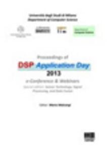 Libro Proceedings of DSP application day 2013 Mario Malcangi