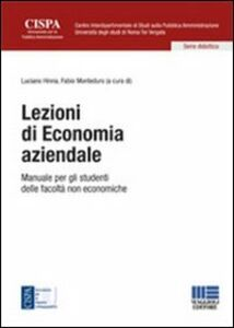 Libro Lezioni di economia aziendale. Manuale per gli studenti delle facoltà non economiche