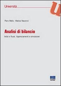 Foto Cover di Analisi di bilancio, Libro di Piero Mella,Matteo Navaroni, edito da Maggioli Editore