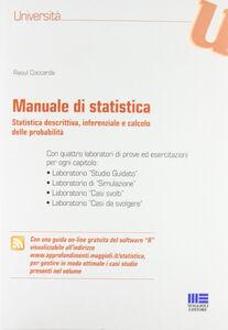 Libro Manuale di statistica Raoul Coccarda