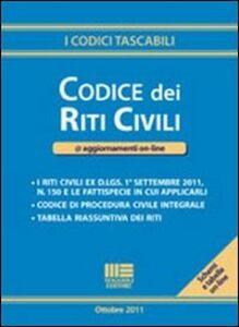 Libro Codice dei riti civili