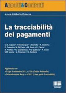 Libro La tracciabilità dei pagamenti Alberto Cisterna