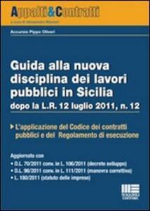 Guida alla nuova disciplina dei lavori pubblici in Sicilia