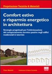 Comfort estivo e risparmio energetico in architettura