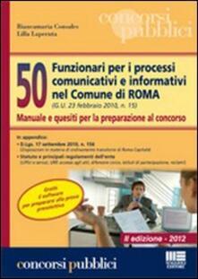 Steamcon.it 50 funzionari nei processi comunicativi e informativi nel Comune di Roma Image