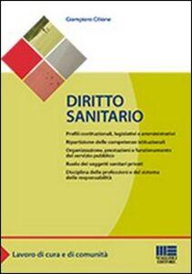 Foto Cover di Diritto sanitario, Libro di Giampiero Cilione, edito da Maggioli Editore