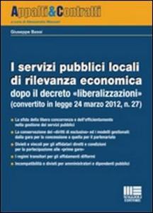 Libro I servizi pubblici locali di rilevanza economica Giuseppe Bassi