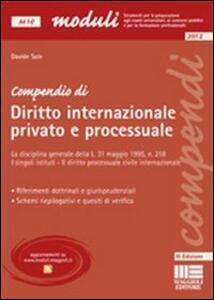 Libro Compendio internazionale privato e processuale Davide Sole