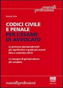 Ristorantezintonio.it Codici civile e penale per l'esame di avvocato Image