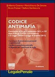 Libro Codice antimafia