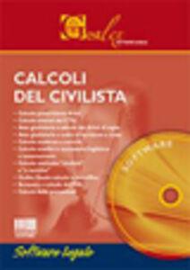 Foto Cover di Calcoli del civilista. Software, Libro di  edito da Maggioli Editore