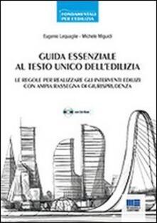 Festivalpatudocanario.es Guida essenziale al Testo Unico dell'edilizia. Con CD-ROM Image
