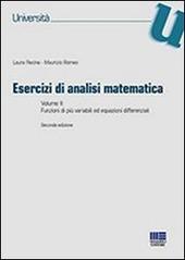 Esercizi di analisi matematica. Vol. 2: Funzioni di più variabili ed equazioni differenziali.