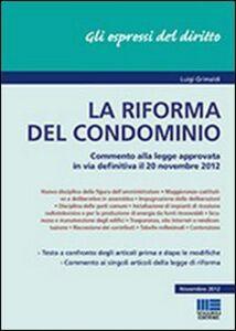 Foto Cover di La riforma del condominio, Libro di Luigi Grimaldi, edito da Maggioli Editore