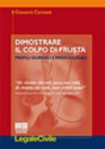 Foto Cover di Dimostrare il colpo di frusta, Libro di Giovanni Cannavò, edito da Maggioli Editore