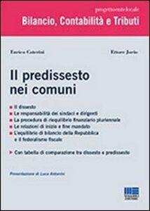 Libro Il predissesto nei comuni Enrico Caterini , Ettore Jorio
