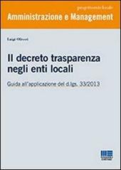 Il decreto trasparenza negli enti locali