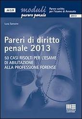 Pareri di diritto penale 2013