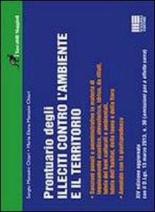 Foto Cover di Prontuario degli illeciti contro l'ambiente e il territorio, Libro di Sergio Matteini Chiari,M. Elena Matteini Chiari, edito da Maggioli Editore