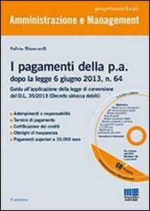 Libro I pagamenti della P.A. Con CD-ROM Salvio Biancardi