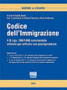 Libro Codice dell'immigrazione Guido Savio