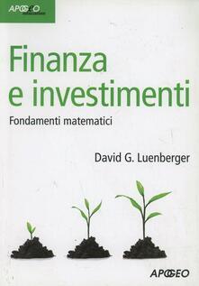 Parcoarenas.it Finanza e investimenti. Fondamenti matematici Image