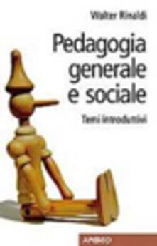 Daddyswing.es Pedagogia generale e sociale. Temi introduttivi Image
