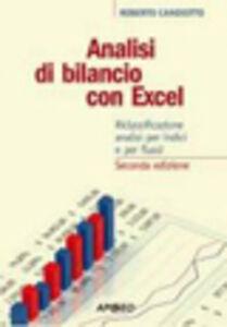 Foto Cover di Analisi di bilancio con Excel, Libro di Roberto Candiotto, edito da Apogeo Education