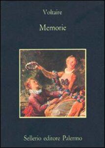 Foto Cover di Memorie, Libro di Voltaire, edito da Sellerio Editore Palermo