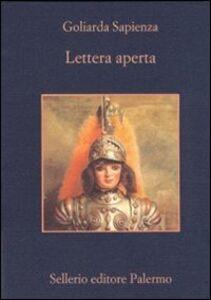 Foto Cover di Lettera aperta, Libro di Goliarda Sapienza, edito da Sellerio Editore Palermo