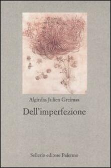 Dell'imperfezione - Algirdas J. Greimas - copertina