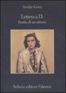 Lettera a D. Storia di un amore - André Gorz - copertina