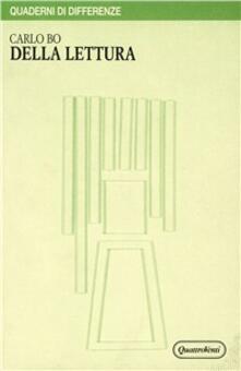 Della lettura - Carlo Bo - copertina